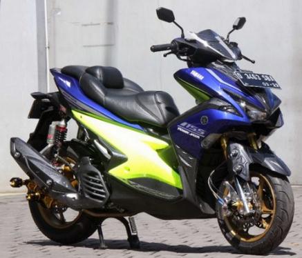 Kumpulan Modifikasi Yamaha Aerox 155 Touring Gagah Keren Variasi